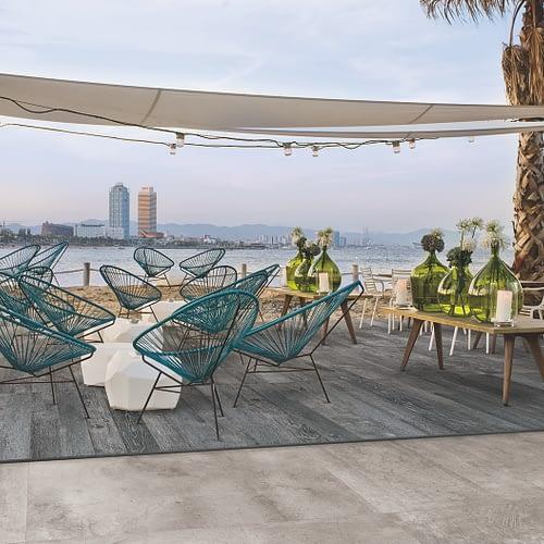 Fliesen und Feinsteinzeug für den Außenbereich, Terassen und Balkone im XXL- und Großformat